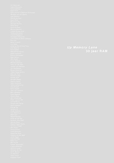 Up Memory Lane – 30 jaar RAM