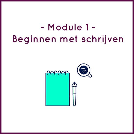 Module 1 – Beginnen met schrijven