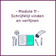Module 11 - Schrijfstijl vinden en verfijnen