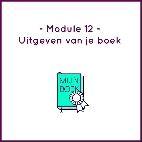 Module 12 – Uitgeven van je boek