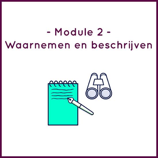 Module 2 – Waarnemen en beschrijven